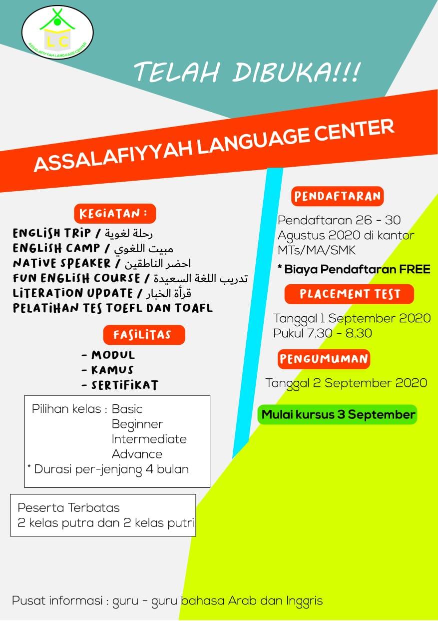 Assalafiyyah Language Center (ALC) Membuka Kelas Kursus Baru English – Arabic